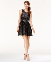 Trixxi Juniors' Star Lace Fit & Flare Dress