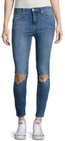 Free People Busted Distressed Skinny Jeans