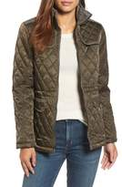 Vince Camuto Women's Mixed Media Quilted Jacket