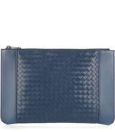 Bottega Veneta Intrecciato-panel leather document holder