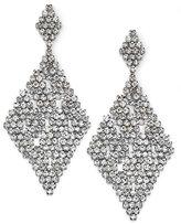 ABS by Allen Schwartz Earrings, Silver-Tone Crystal Chandelier Earrings