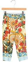 Dolce & Gabbana Girls' Carretto Siciliano Silk Pants
