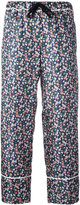 Moncler floral print cropped trousers - women - Silk - 38