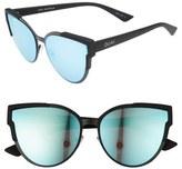 Quay Game On 57mm Cat Eye Sunglasses
