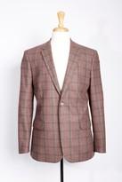 Boga Plaid Wool & Cashmere Modern Fit Blazer