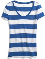 Tommy Hilfiger Women's Rugby Stripe Favorite Tee