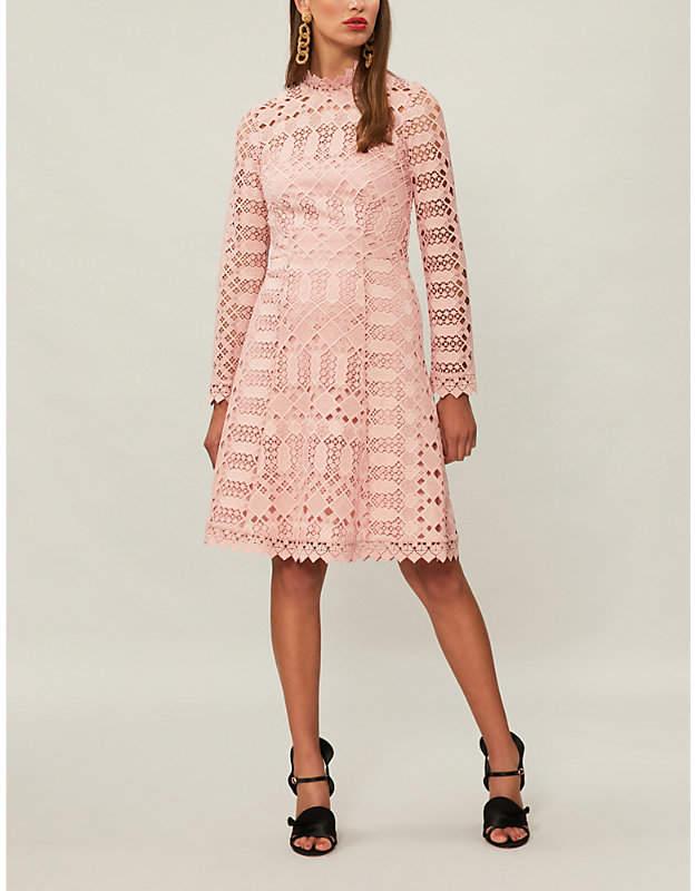Temperley London Amelia geometric lace dress