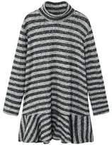MANGO Striped ruffle dress