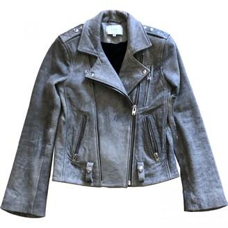 IRO Grey Leather Leather jackets