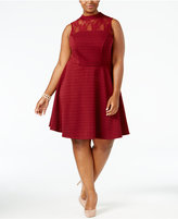 Love Squared Trendy Plus Size Mock-Neck Illusion Dress