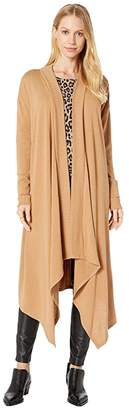 1 STATE 1.STATE Long Sleeve Drape Front Maxi Cardigan