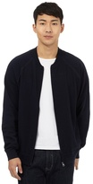 Red Herring Navy Zip Through Baseball Jacket