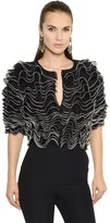 Alexander McQueen Ruffled Knit Cropped Jacket