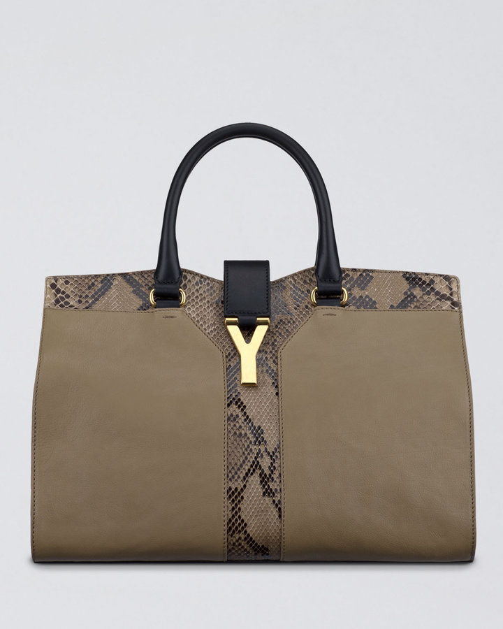 Yves Saint Laurent Cabas ChYc Python Tote Bag, Medium