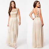 tillCool Yong8 exy Bridemaid Chiffon Lace Long Wedding Cocktail Prom Evening Party Maxi Dre