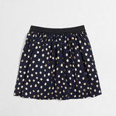 J.Crew Factory Girls' gold foil dot skirt