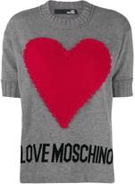 Love Moschino heart-appliqued jumper