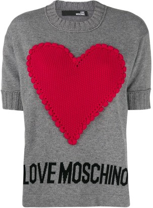 Love Moschino Heart-Appliqued Jumper