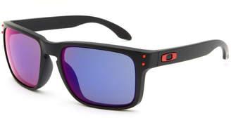 Oakley Holbrook Matte Black & Red Iridium Sunglasses