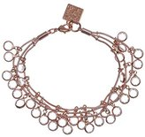 """Anne Klein Classic Rose"""" Rose Gold Tone Crystal 3-Row Shaky Bracelet"""