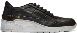 Common Projects Black Cross Trainer Sneakers