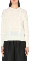 Burberry River fringed cashmere jumper