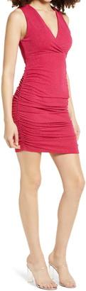 Leith Ruched Sleeveless Minidress