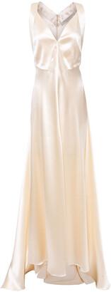 Philosophy di Lorenzo Serafini Asymmetric Cutout Satin-crepe Gown