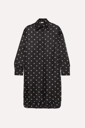 Fendi Printed Silk-twill Dress - Black
