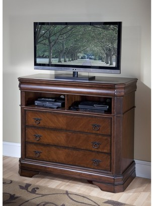New Classic Home Sheridan Burnished Cherry 3-drawer Media Chest