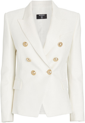 Balmain Double-Breasted Pique Blazer