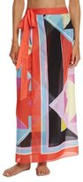 Emilio Pucci Monreale Printed Wrap Maxi Skirt Coverup