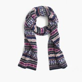 J.Crew Merino wool scarf in Fair Isle