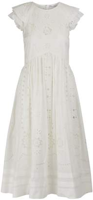 RED Valentino Embroidered cotton dress