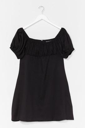 Nasty Gal Womens Dancing Days Puff Sleeve Mini Dress - Black - 6, Black