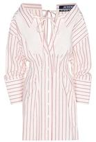 Jacquemus Striped Cotton And Linen Mini Dress