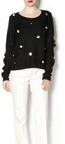 Endless Rose Black Flower Sweater