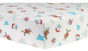Trend Lab Frosty Fun Flannel Crib Sheet Bedding