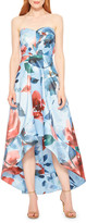 Parker Black Clara Floral Strapless High-Low Midi Dress