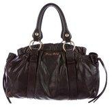 Miu Miu Ruched Leather Satchel