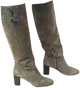 Michael Kors Khaki Suede Boots