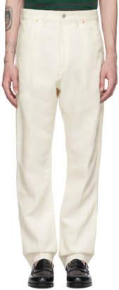 Junya Watanabe Off-White Linen Denim Trousers
