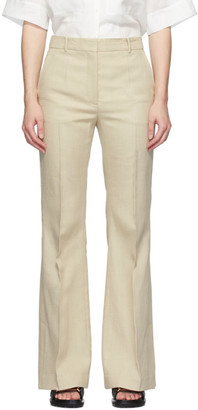 Joseph Beige Flared Tena Trousers