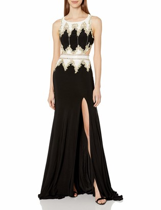 Mac Duggal Women's Cut Out Beaded Gown