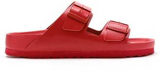 Valentino Double-Buckle Slip-On Slides