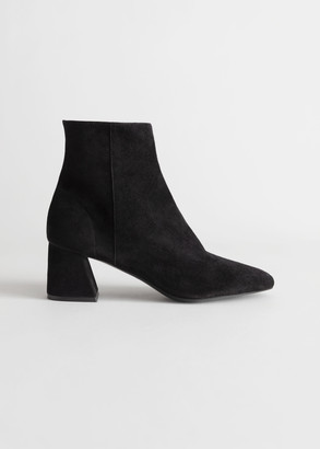And other stories Suede Block Heel Ankle Boots