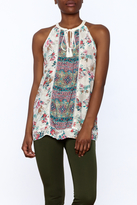 Tolani Silky Sleeveless Blouse