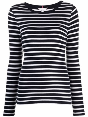 stripe-print T-shirt
