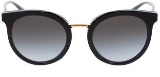 Dolce & Gabbana Black Round Sunglasses