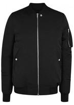 Rick Owens Black Cotton Blend Bomber Jacket